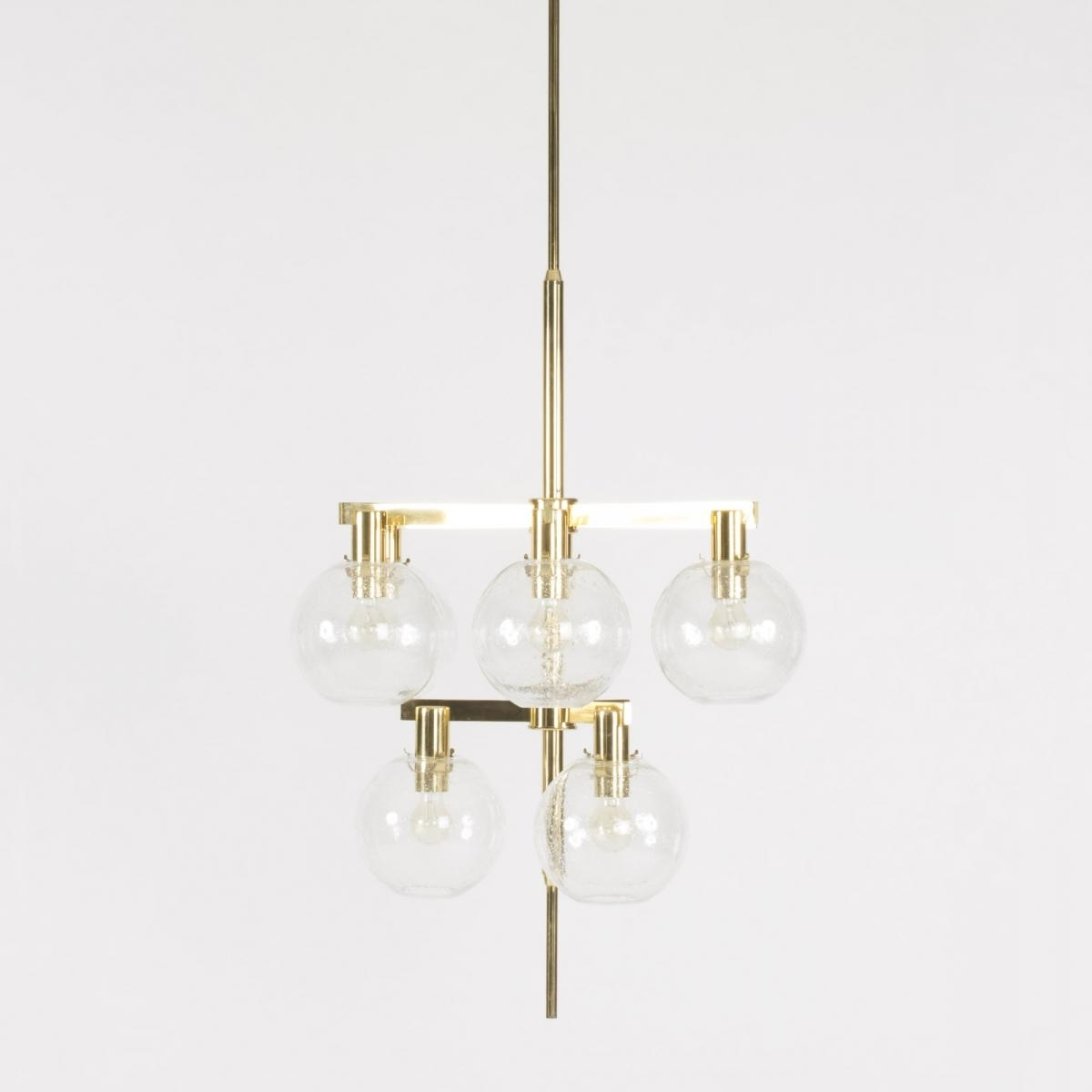 Brass And Glass Chandelier Regarding Most Up To Date Brass And Glass Chandelier From Hans Agne Jakobsson, 1960S For Sale (View 6 of 20)