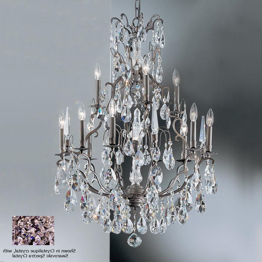 Bronze And Crystal Chandeliers Pertaining To Recent Shop Classic Lighting Versailles 13 Light Antique Bronze Crystal (View 12 of 20)