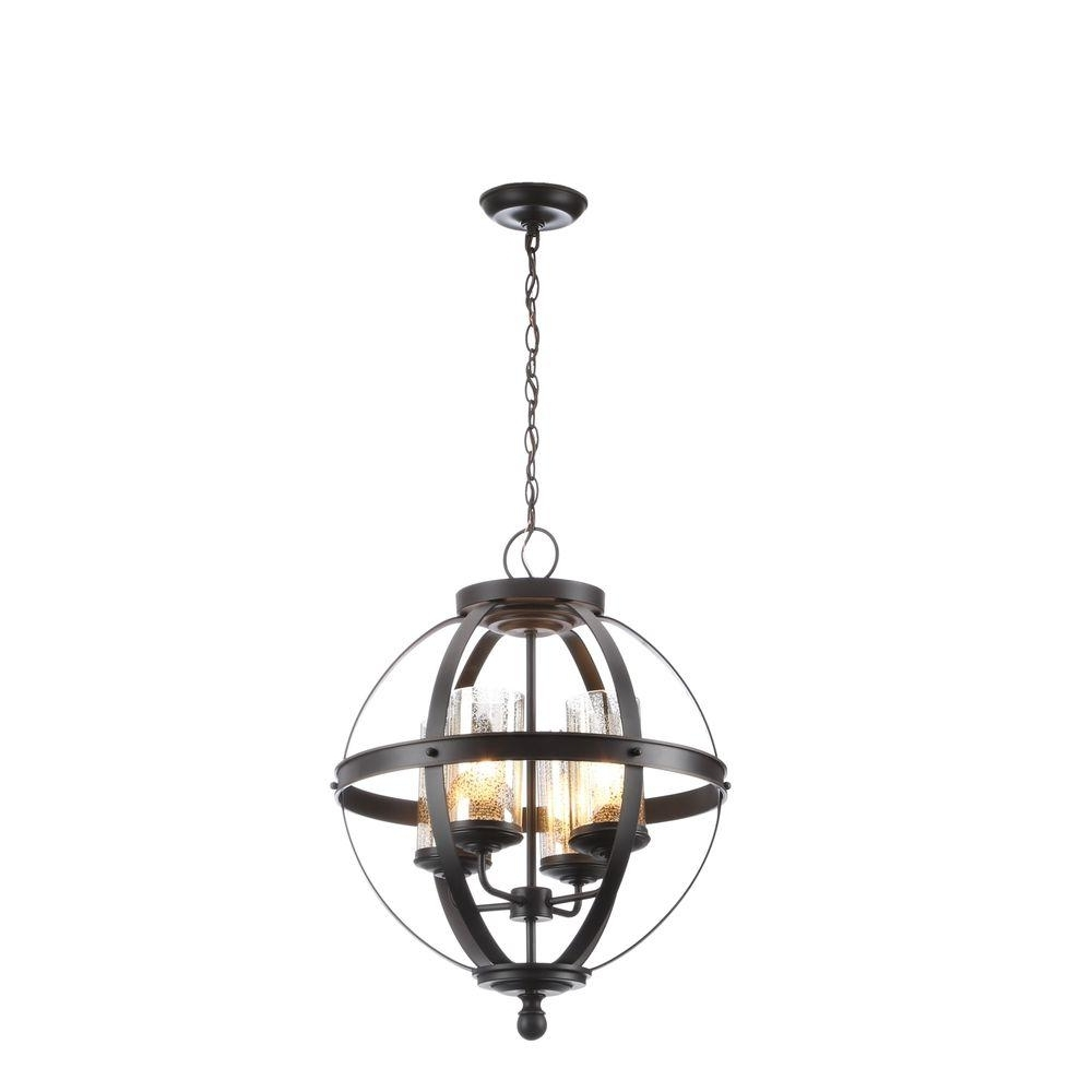 Bronze – Cage – Chandeliers – Lighting – The Home Depot Pertaining To Most Current Cage Chandeliers (View 2 of 20)