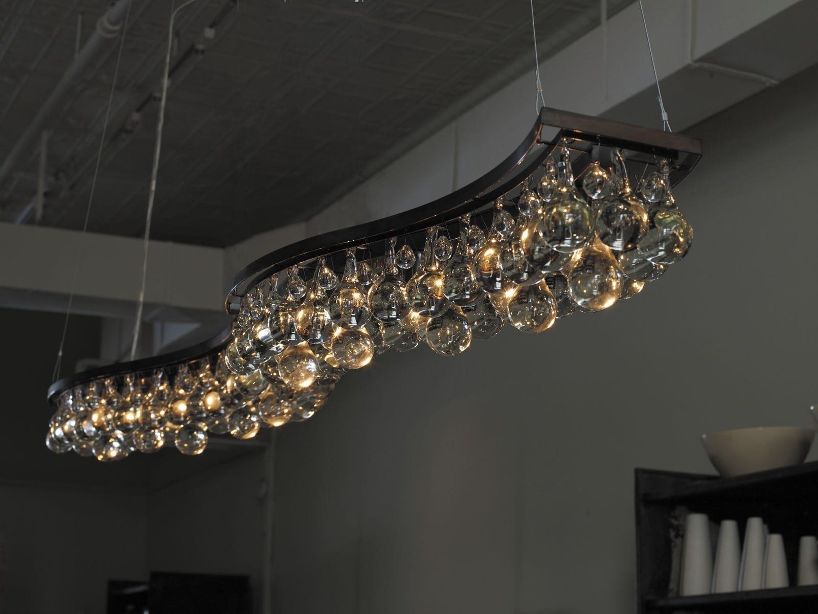 Bronze Modern Chandelier In Recent Contemporary Chandelier / Glass / Nickel / Bronze – Arctic Pear (View 9 of 20)