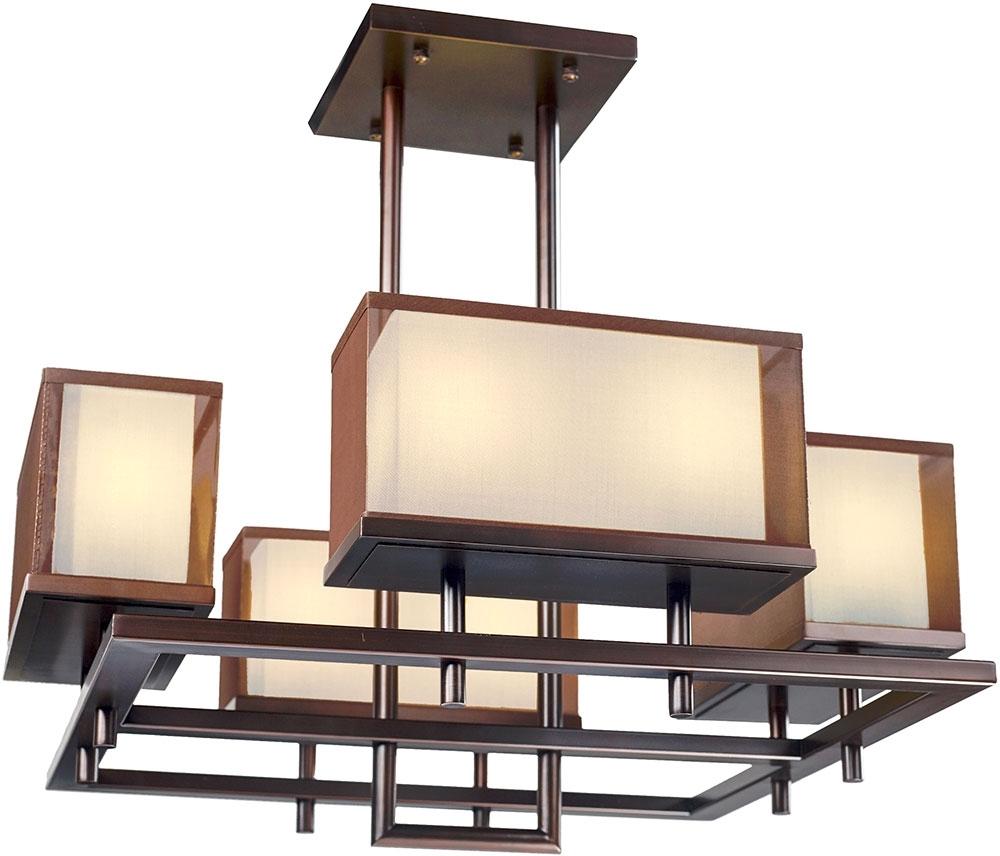 """Bronze Modern Chandelier Inside Trendy Maxim 43446csoi Hennesy Modern Oil Rubbed Bronze Led 42"""" Chandelier (View 3 of 20)"""