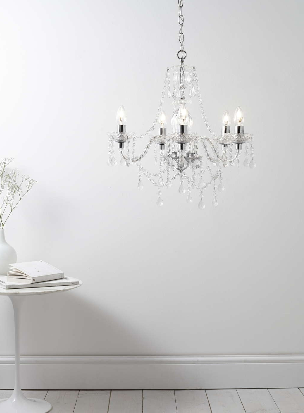 Bryony 5 Light Chandelier, Chrome – All Home & Lighting Sale – Sale Pertaining To Well Liked 7 Light Chandeliers (View 15 of 20)