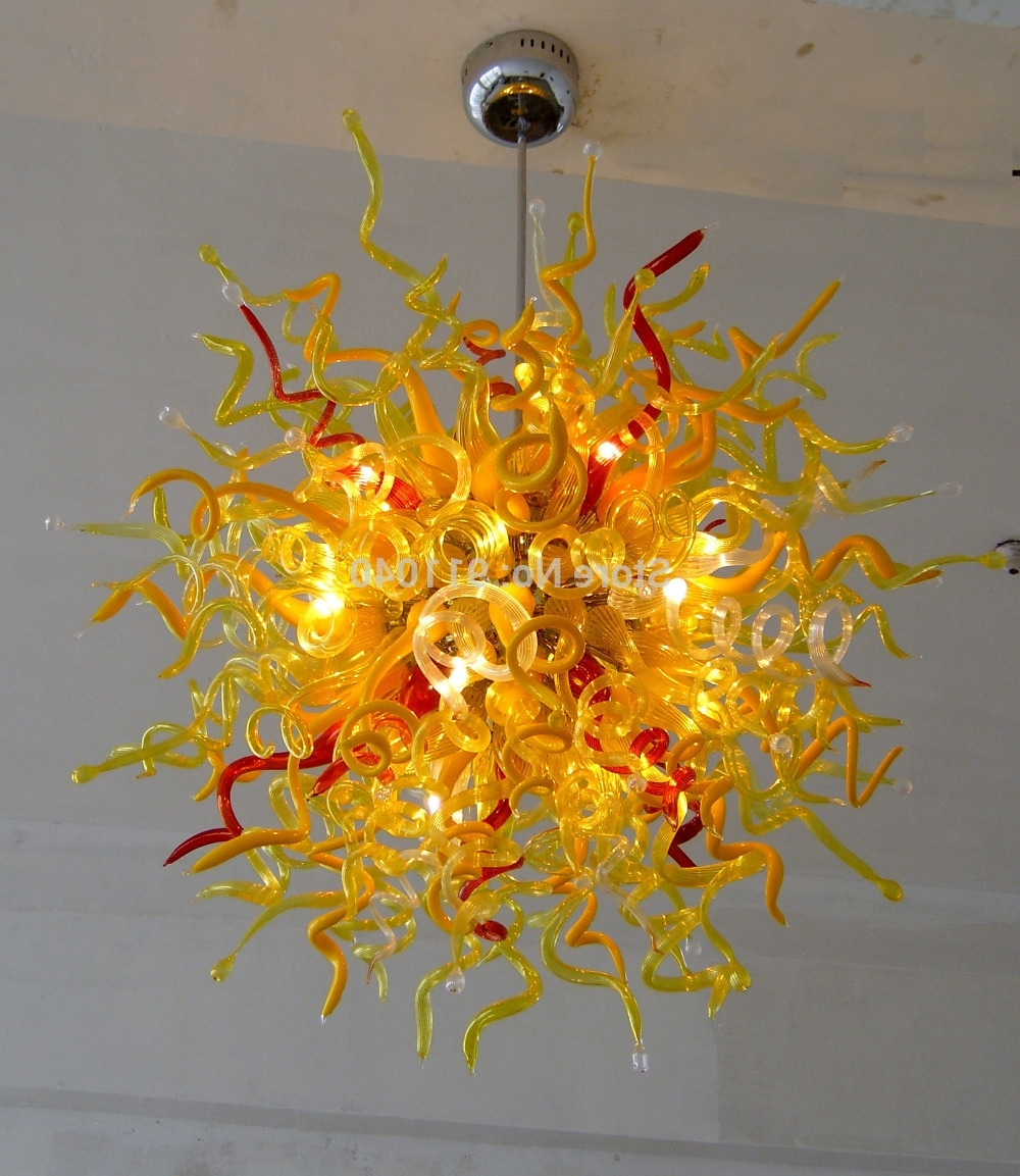 Buy Coloured Glass Chandeliers And Get Free Shipping On Aliexpress Inside Preferred Coloured Chandeliers (View 2 of 20)