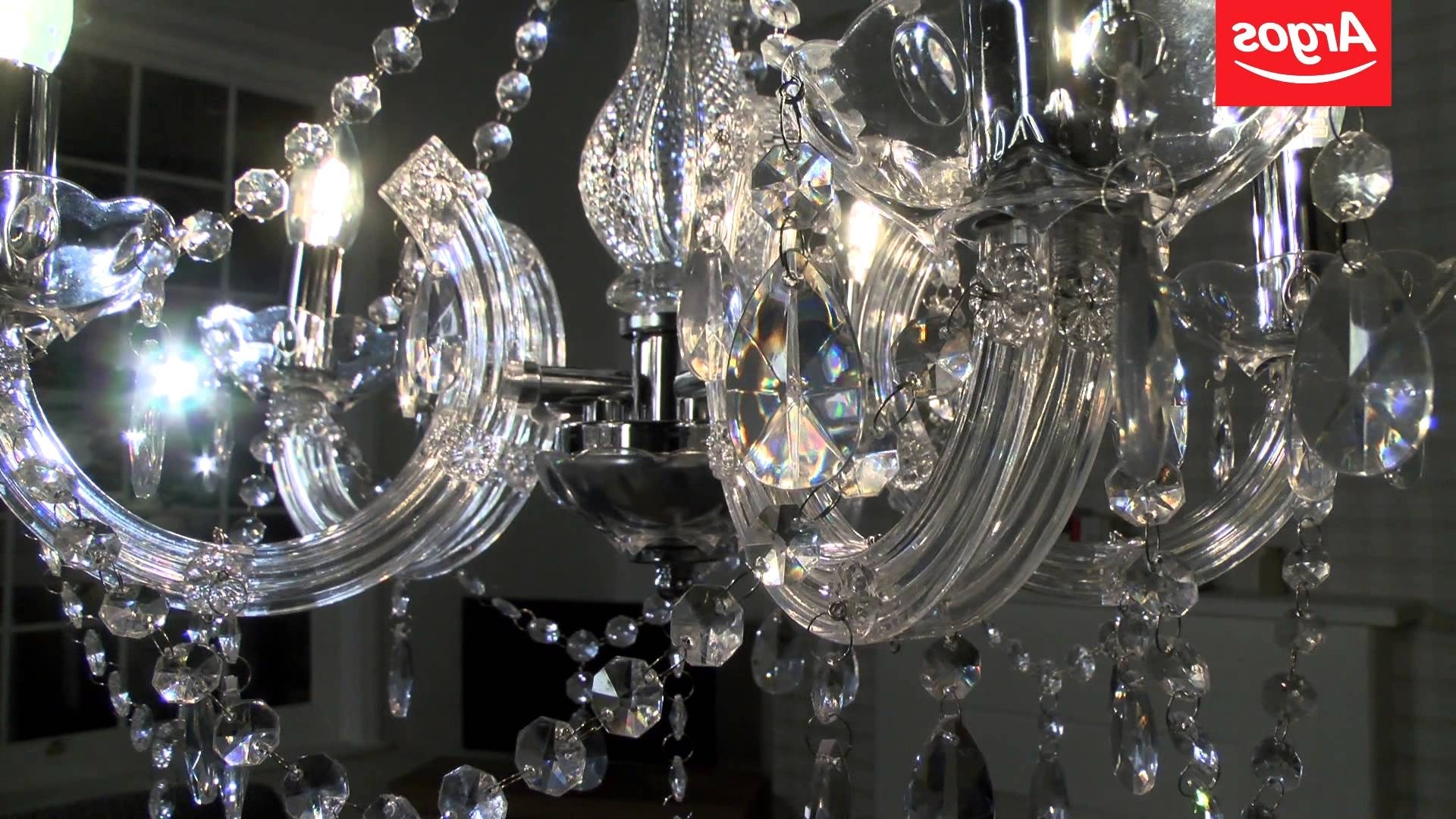 Buy Inspire Chandelier 5 Light Ceiling Fitting – Youtube Within Best And Newest Light Fitting Chandeliers (View 2 of 20)