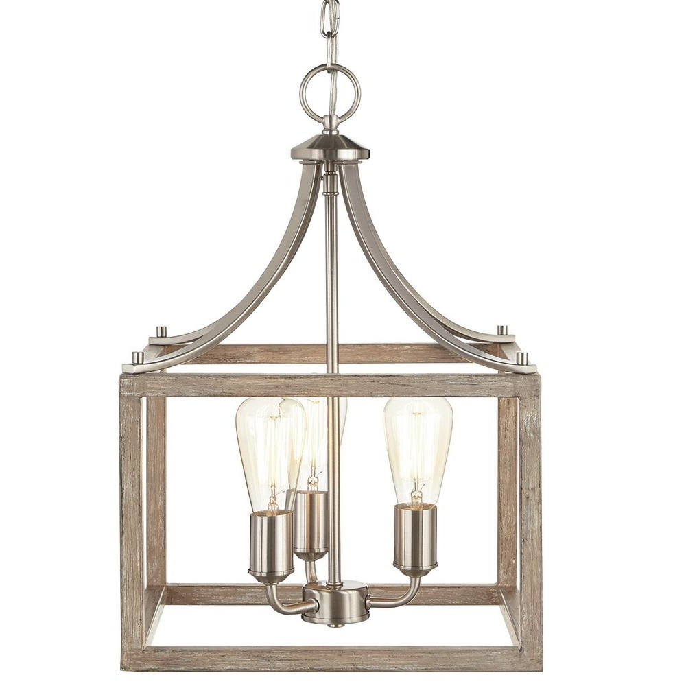Cage – Chandeliers – Lighting – The Home Depot In Favorite Cage Chandeliers (View 3 of 20)