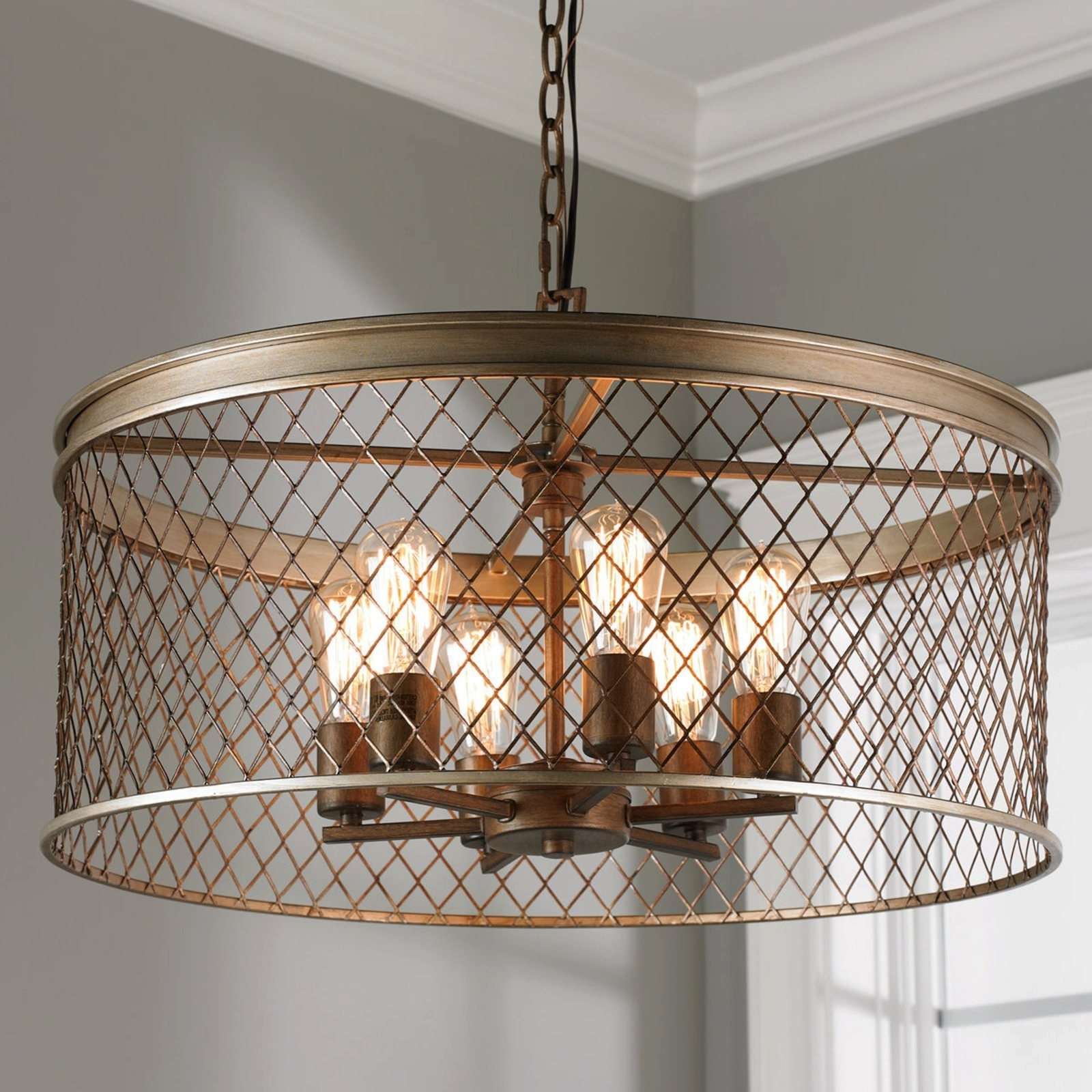 Cage Light Chandelier (View 6 of 20)