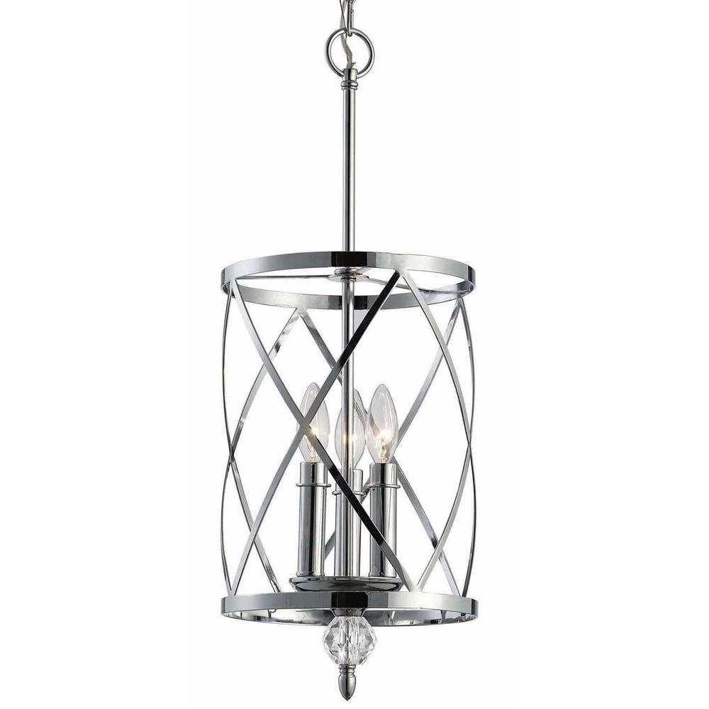 Canarm Vanessa 3 Light Chrome Chandelier Ich172b03ch10 – The Home Depot Throughout Widely Used Chandelier Chrome (View 2 of 20)