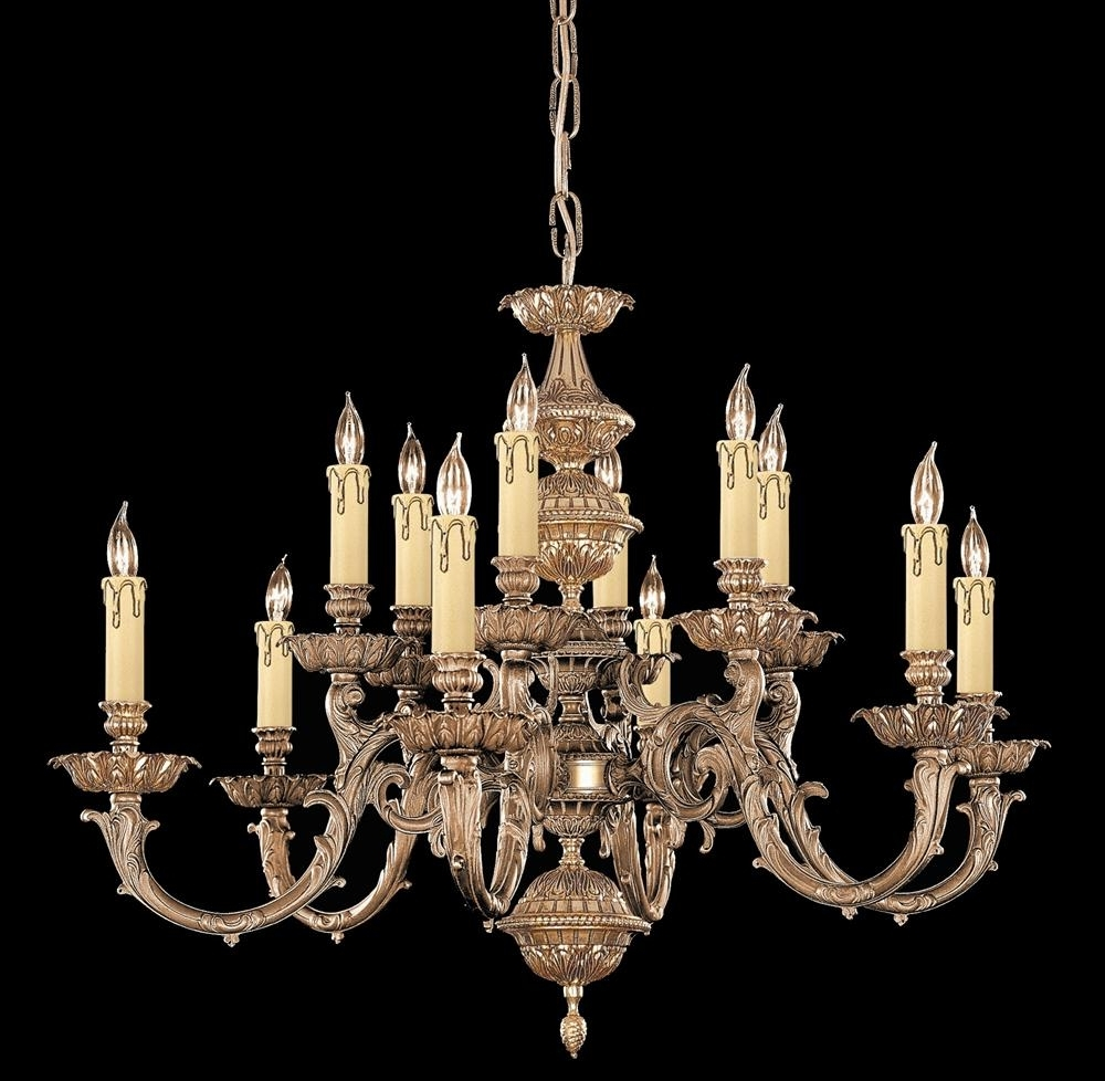Candle Chandelier Within Favorite Buy Solid Brass Candle Chandelier (View 8 of 20)