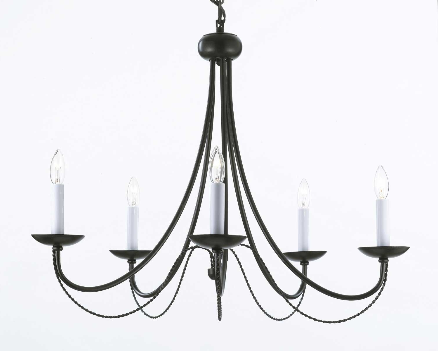 Candle Look Chandeliers With Regard To 2019 G7 403/5 Wrought Iron Chandelier Chandeliers, Crystal Chandelier (View 18 of 20)