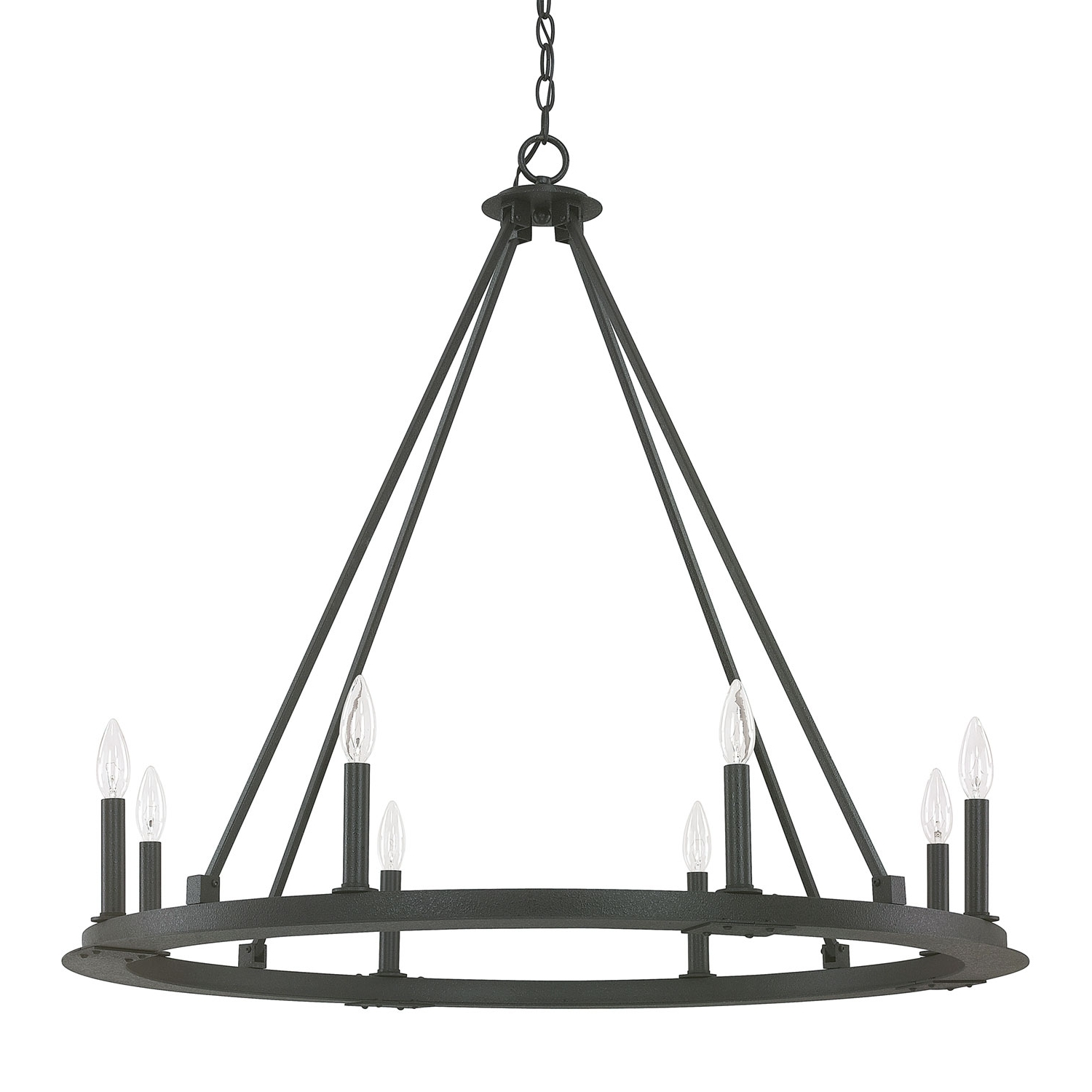 Capital Lighting Fixture Company Pearson Black Iron Eight Light Pertaining To Popular Black Chandelier (View 18 of 20)
