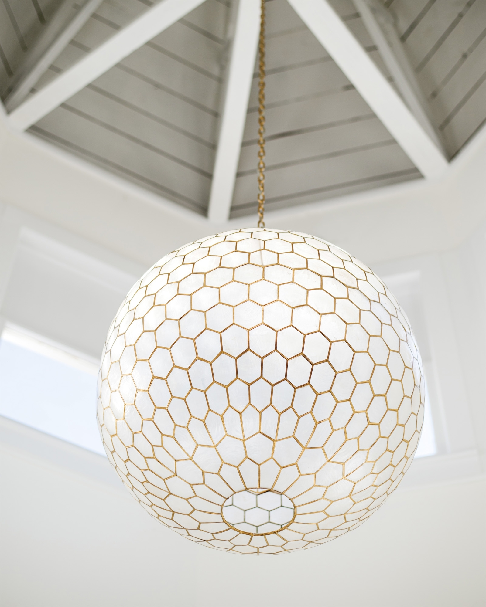 Capiz Honeycomb Chandelier Via Serena & Lily (View 4 of 20)