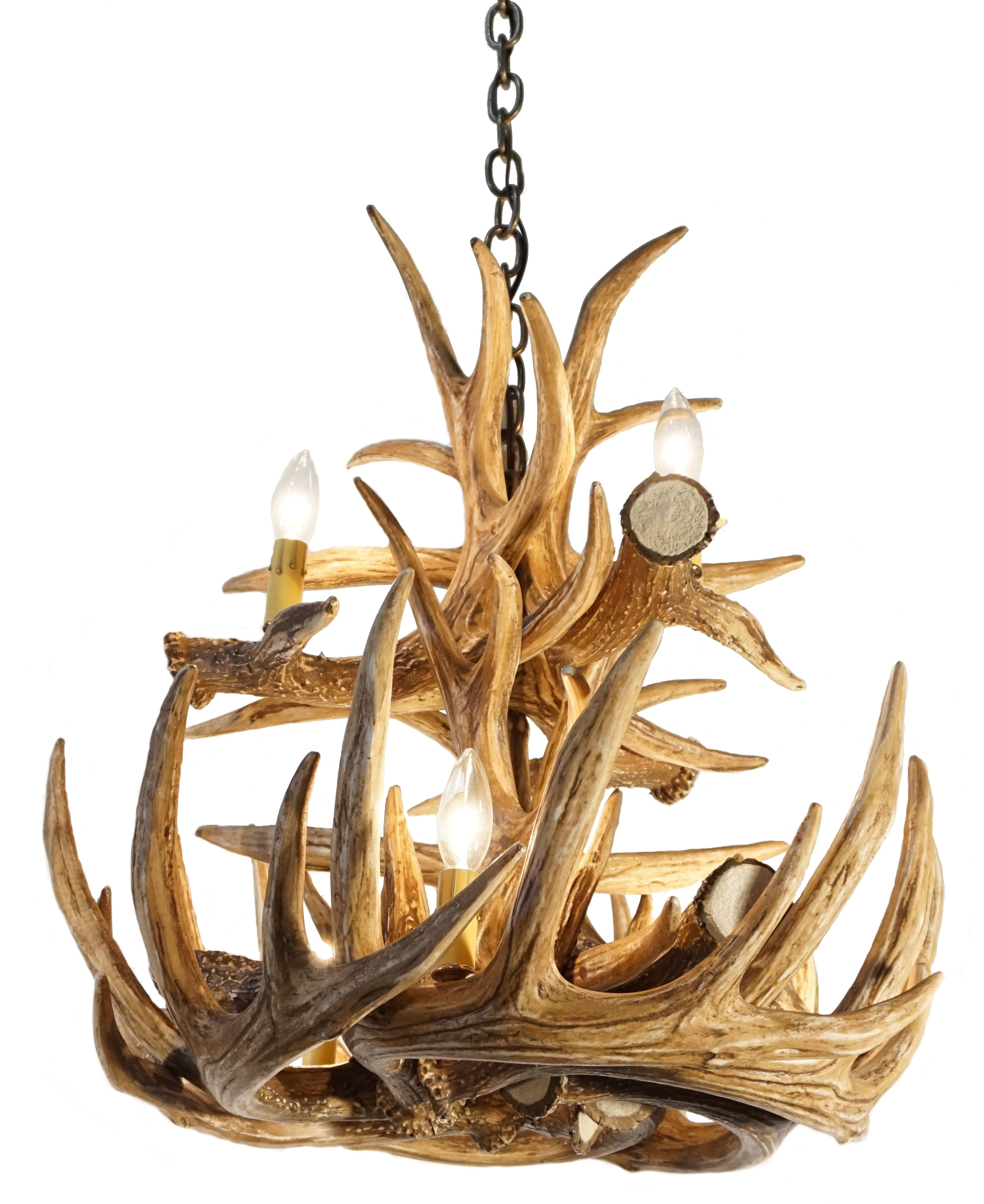 Cast Horn Designs Intended For Large Antler Chandelier (View 3 of 20)