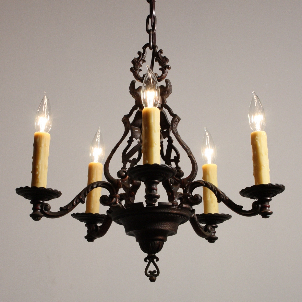 Cast Iron Chandelier With Regard To Current Antique Cast Iron Chandelier – Chandelier Designs (View 3 of 20)