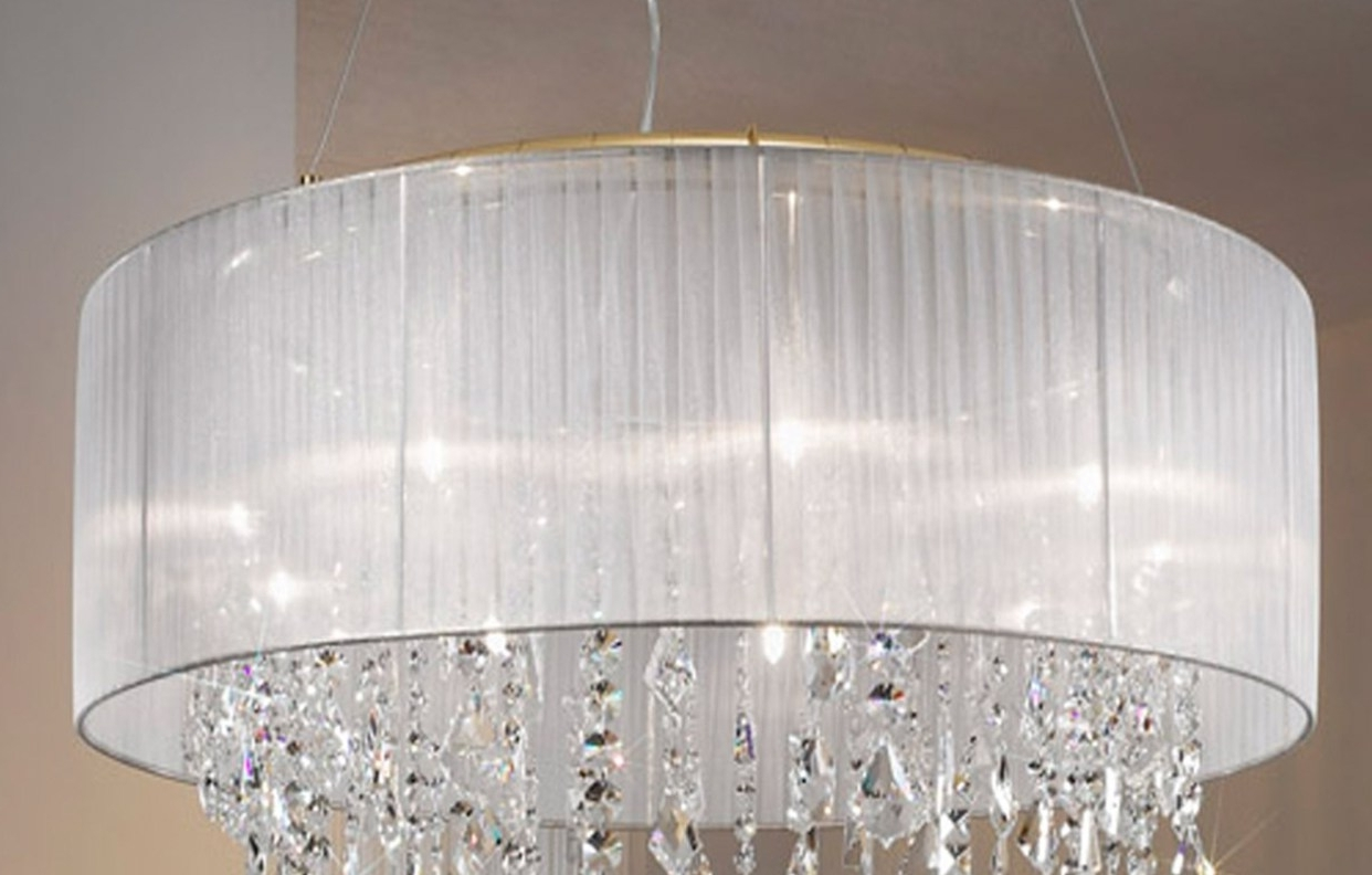 Chandelier : 5 Linen Drum Chandelier Shade Amazing Clip On Drum With Regard To Widely Used Clip On Drum Chandelier Shades (View 4 of 20)