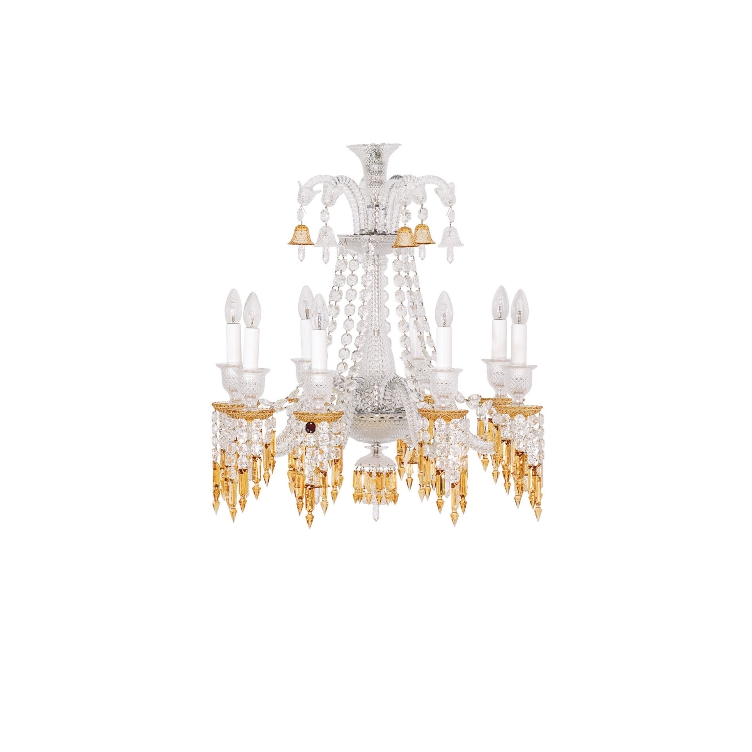 Chandelier 8L Baccarat Zenith Charleston 2809404 Throughout Most Popular Short Chandeliers (View 4 of 20)