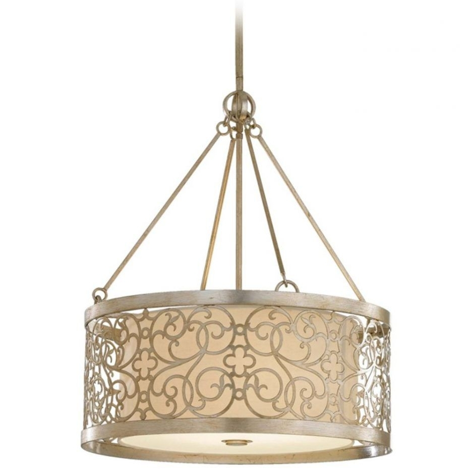 Chandelier Accessories Within Most Current Chandeliers Design : Awesome Drum Pendant Lighting Brushed Nickel (View 11 of 20)