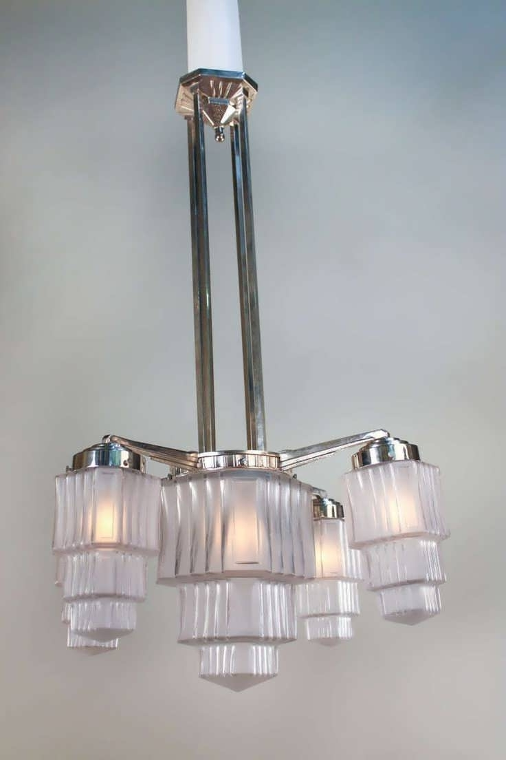 Chandelier : Art Deco Bathroom Wall Lights Art Deco Crystal With Regard To Most Recently Released Large Art Deco Chandelier (View 7 of 20)