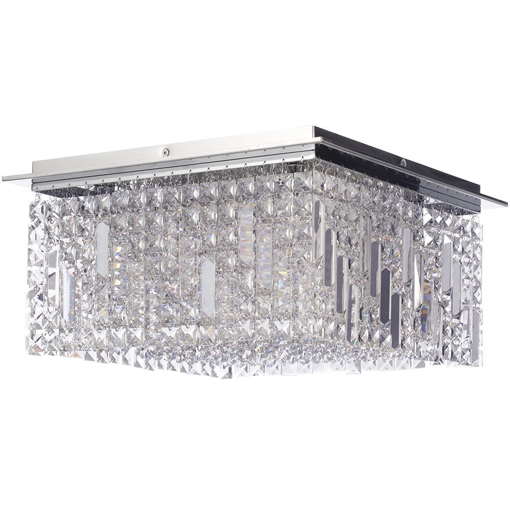 Chandelier Bathroom Ceiling Lights Pertaining To Most Up To Date Marquiswaterford – Fane Led Large Square Flush Bathroom Ceiling (View 4 of 20)