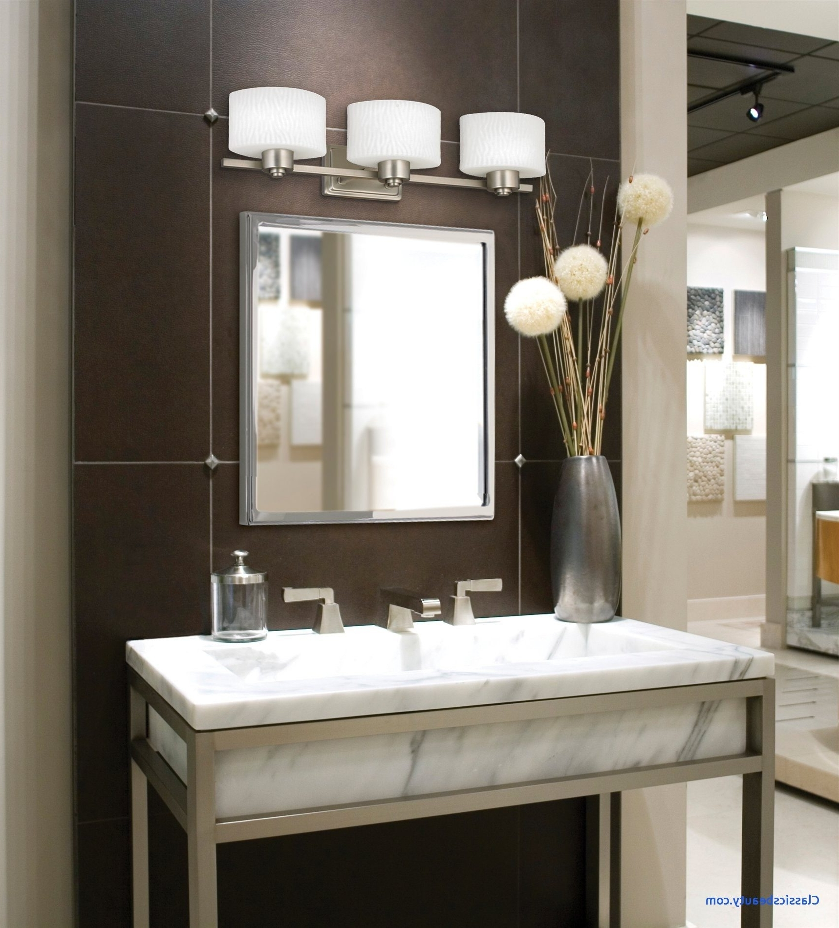 Chandelier Bathroom Vanity Lighting With Newest Hanging Bathroom Lights – Nice Hanging Bathroom Lights Tags (View 11 of 20)