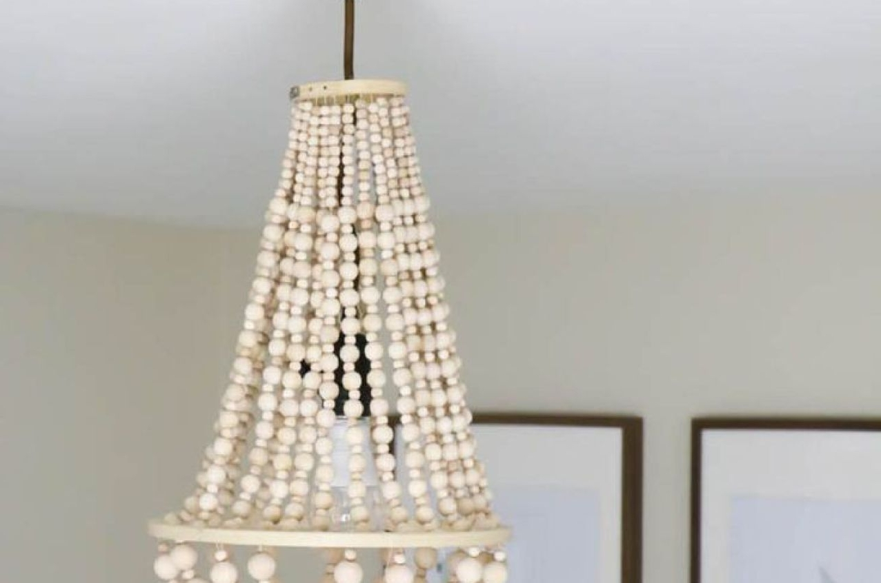 Chandelier : Chandelier With Ceiling Fan Attached Lowes Lighting Pertaining To Most Recently Released Diy Turquoise Beaded Chandeliers (View 18 of 20)
