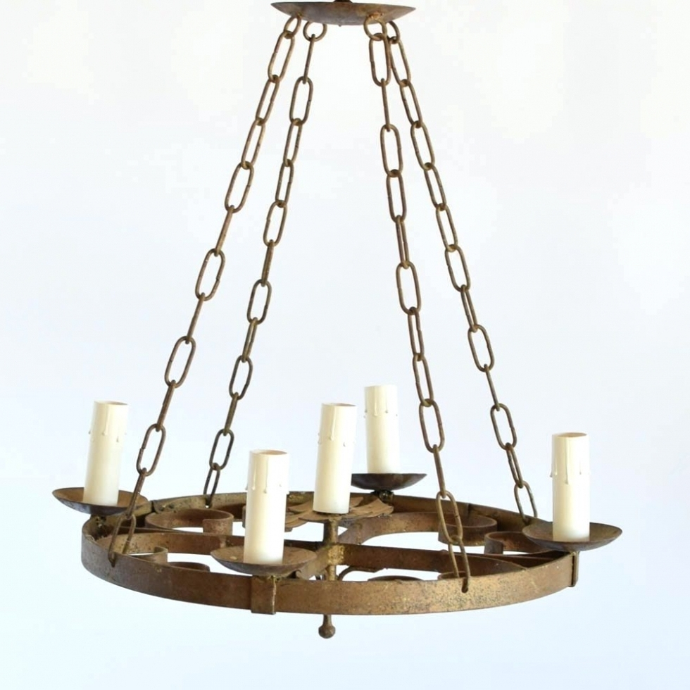 Chandelier ~ Chandeliers ~ Pottery Barn Ornate Iron Ring Chandelier Regarding Latest Ornate Chandeliers (View 3 of 20)