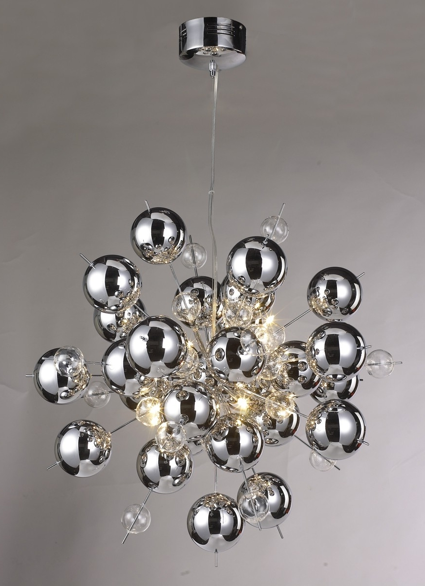 Chandelier Chrome Inside Well Known Chrome Ball Sputnik Chandelier – Be Fabulous! (View 7 of 20)