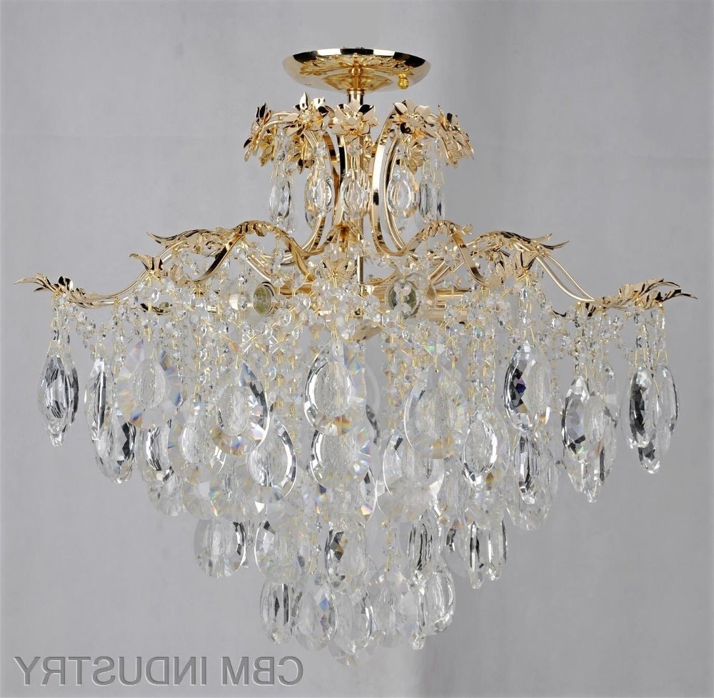 Chandelier For Low Ceiling Glass Drop Lighting Om88441 600 19 Pertaining To Current Low Ceiling Chandeliers (View 6 of 20)