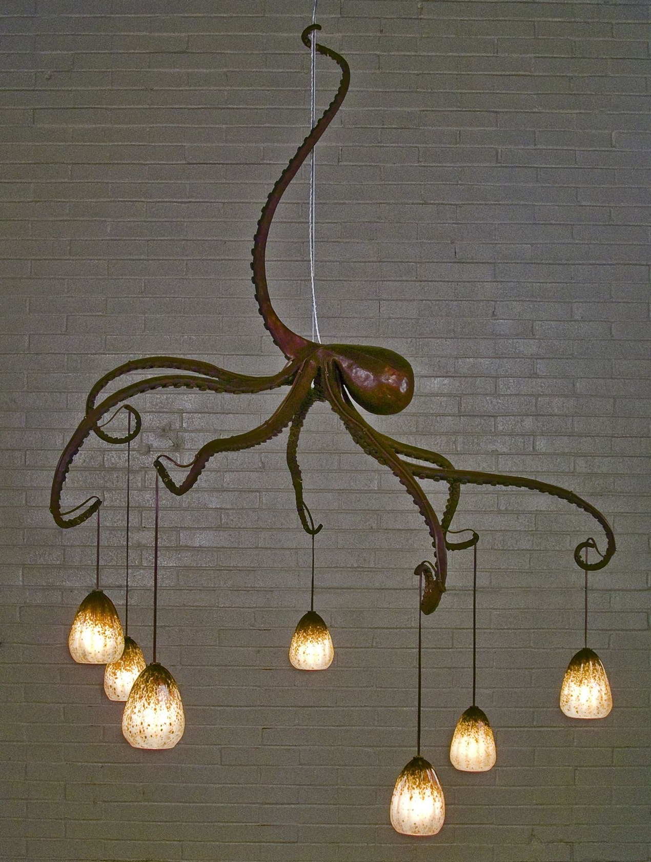 Chandelier For Restaurant Pertaining To Newest Octopus Chandelier Made For Michael Chiarello's Restaurant, Bottega (View 4 of 20)