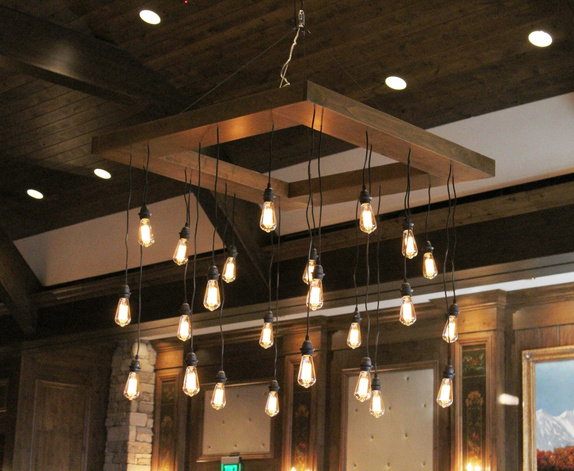 Chandelier For Restaurant With Regard To Popular Bulb Chandelier (View 5 of 20)