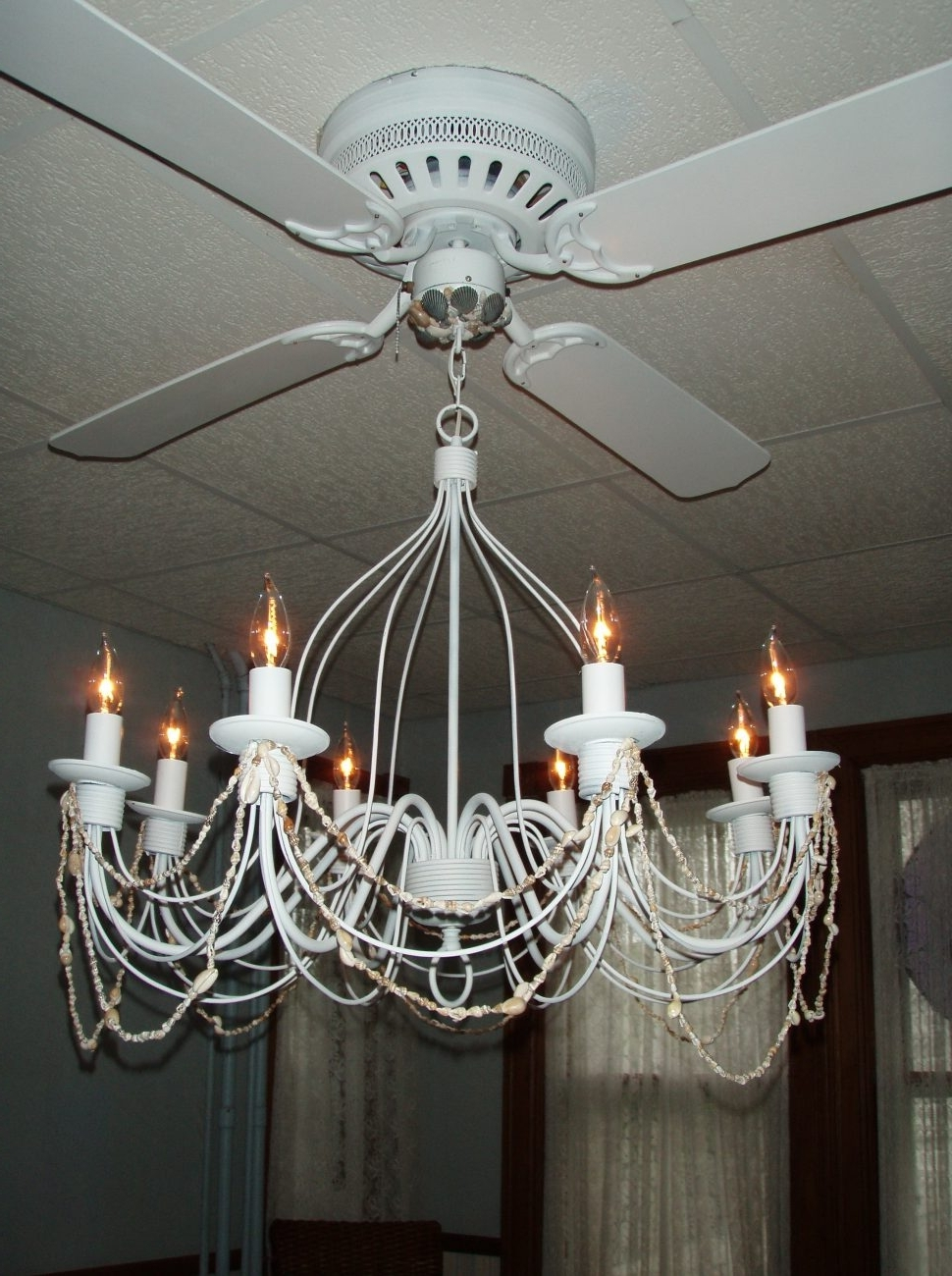 Chandelier Light Fixture For Ceiling Fan Pertaining To Favorite Ceiling Fans : Excellent Ceiling Fan Chandelier Elegant Fans With (View 7 of 20)