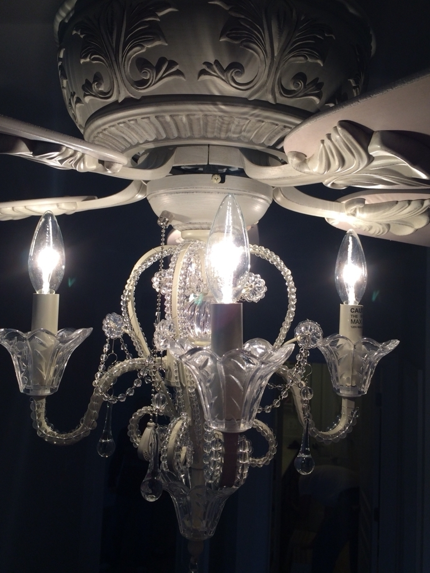 Chandelier Light Fixture For Ceiling Fan Within Favorite Chandeliers Design : Amazing Black Chandelier Ceiling Fan With (View 9 of 20)