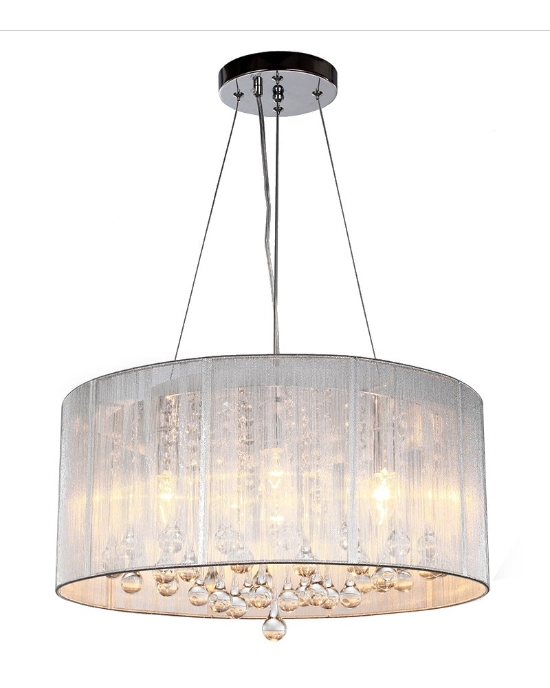 Chandelier Light Shades For Preferred Light : Coolest Drum Pendant Chandelier For Home Decoration Planner (View 5 of 20)