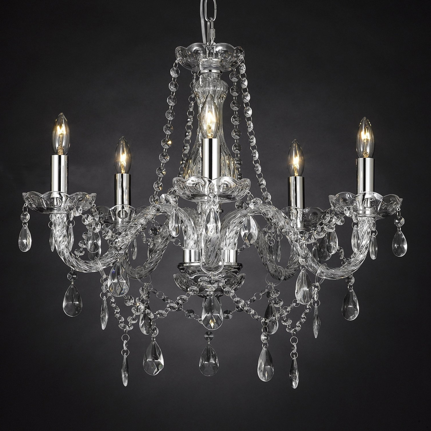 Chandelier Lights With Regard To Well Liked Lighting: Flameless Candle Chandelier (View 20 of 20)