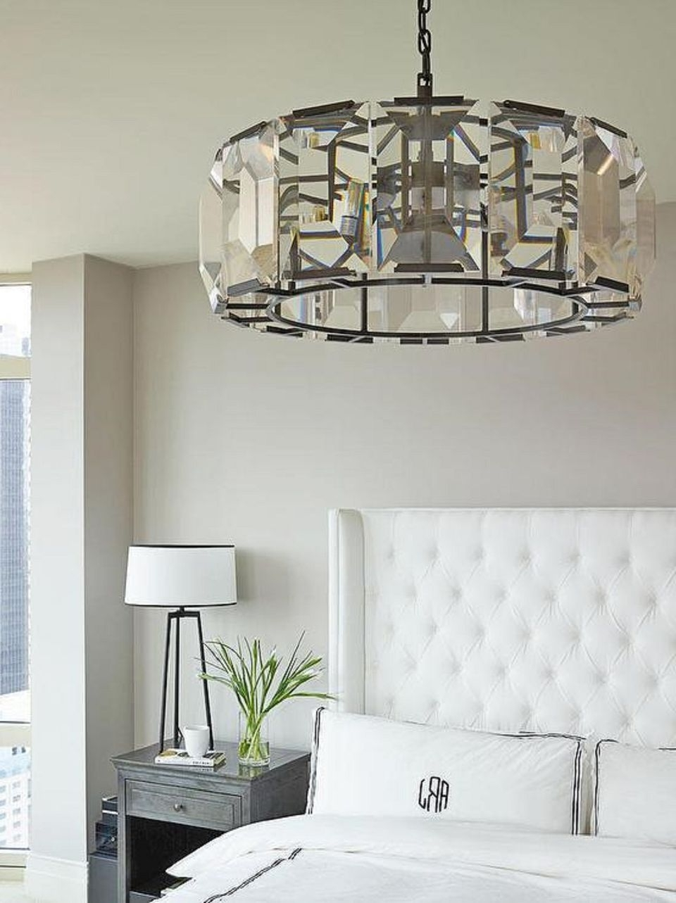Chandelier Night Stand Lamps For Most Popular 25 Master Bedroom Lighting Ideas (View 6 of 20)