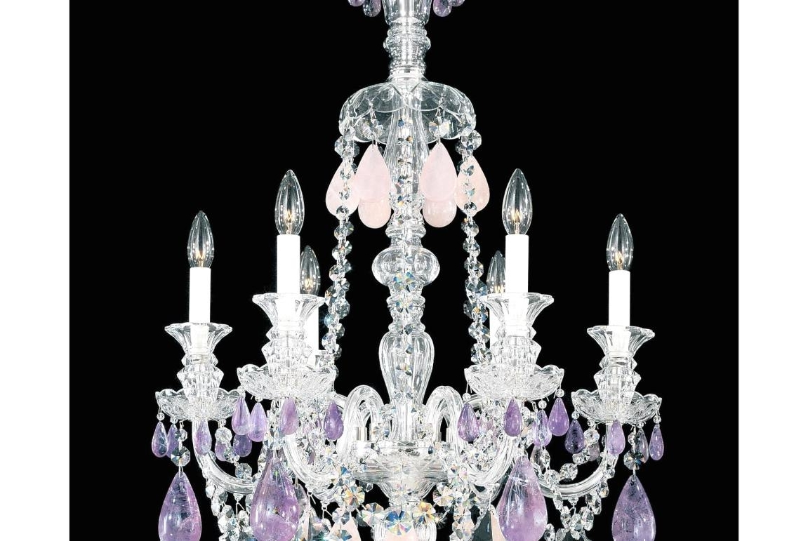 Chandelier : Purple Crystal Chandelier Lighting Cool Purple Light Within Preferred Purple Crystal Chandeliers (View 4 of 20)