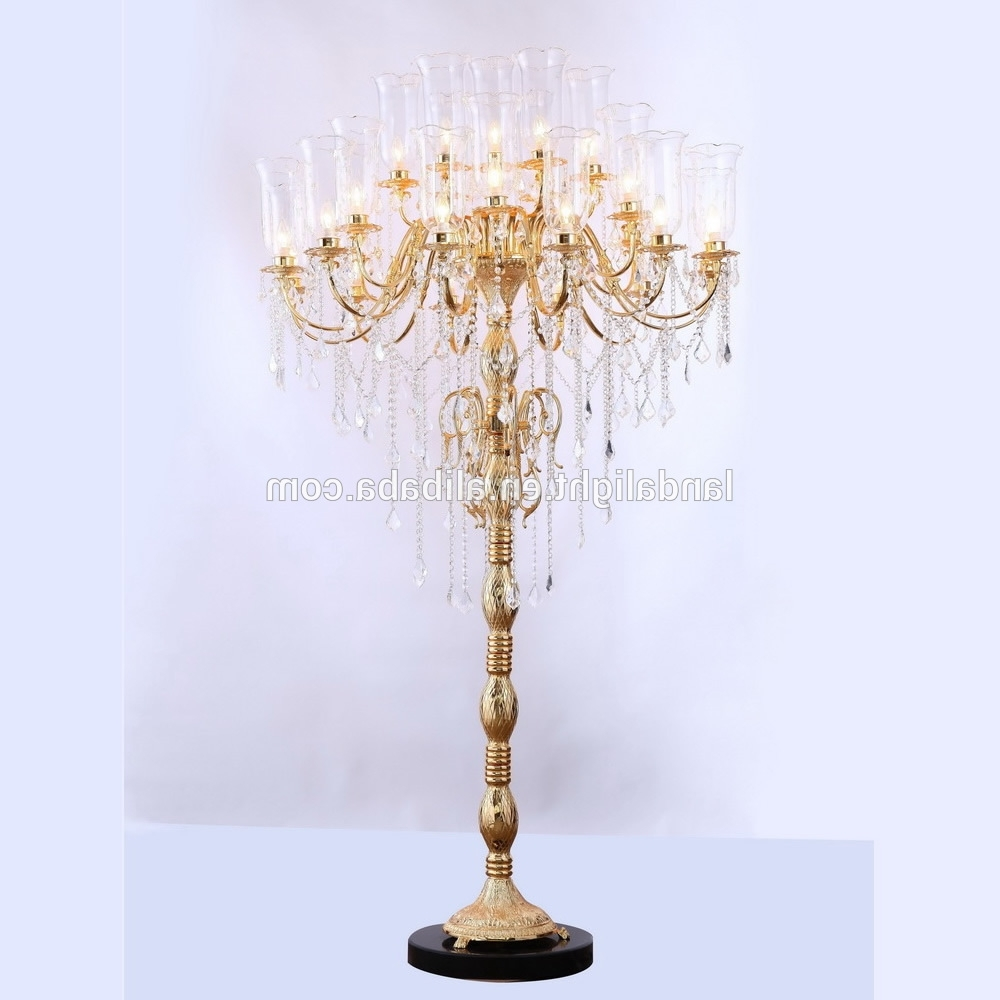 Chandelier Standing Lamps Inside Most Recent Antique Crystal Chandelier Floor Lamps – Buy Crystal Chandelier (View 2 of 20)