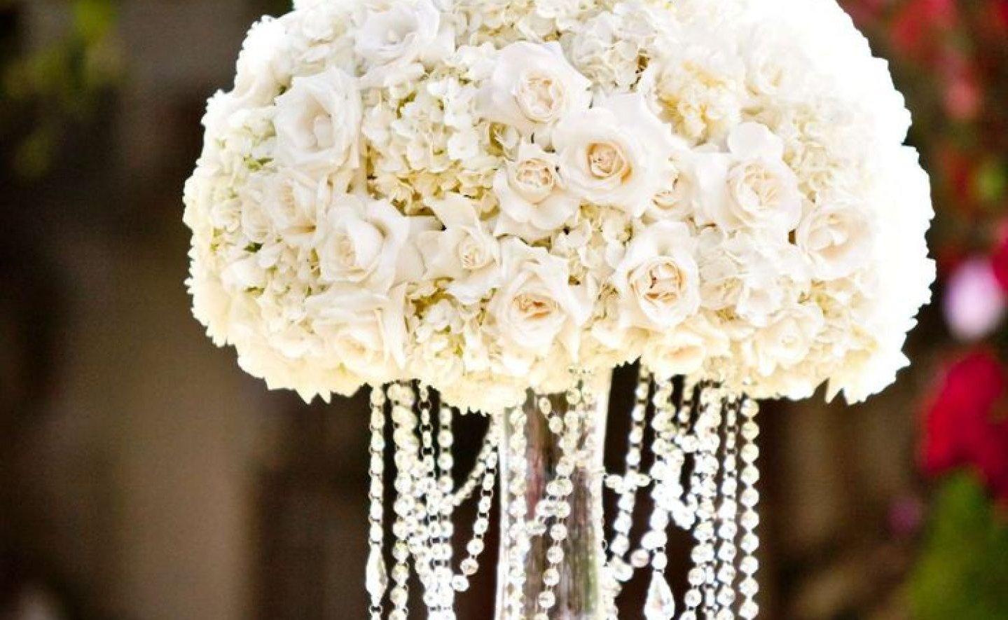 Chandelier : Stunning Faux Crystal Chandelier Wedding Bead Strands For Most Recently Released Faux Crystal Chandelier Wedding Bead Strands (View 5 of 20)