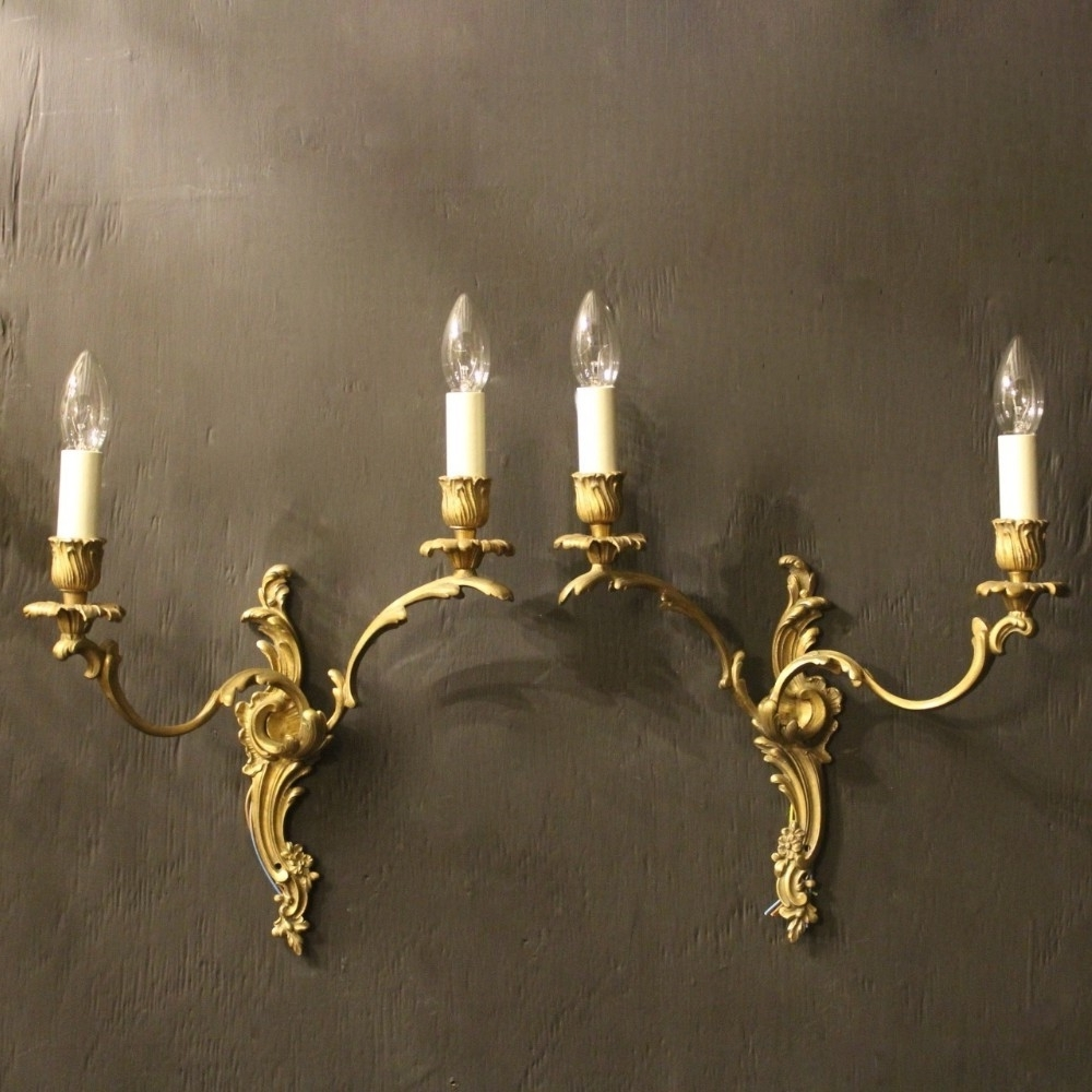 Chandelier Wall Lights Intended For Favorite Antique Chandelier Wall Sconces – Chandelier Designs (View 6 of 20)