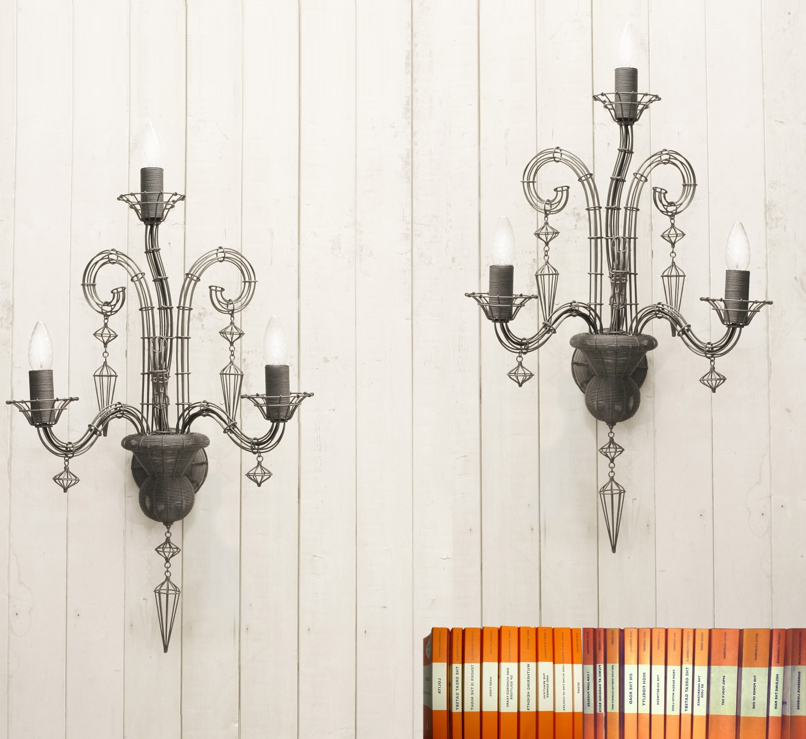 Chandelier Wall Lights Within Popular French Wire Chandelier Wall Light (View 9 of 20)