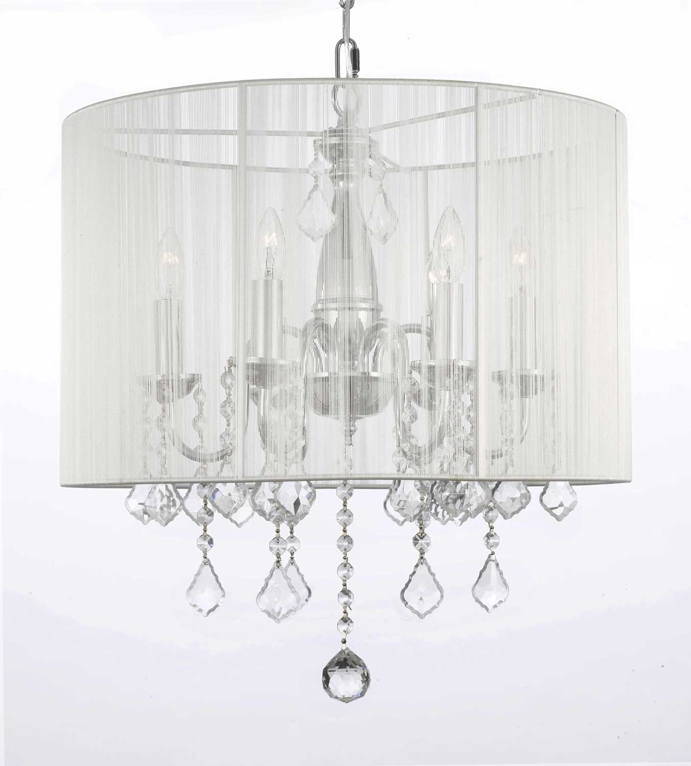 Chandelier With Shades And Crystals Intended For Most Current Chandeliers : Pleasing Chandelier Bulb Shades Images Inspirations (View 18 of 20)
