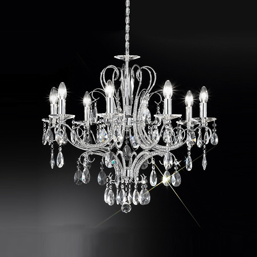 Chandeliers Decoration Within Crystal Chrome Chandelier (View 7 of 20)