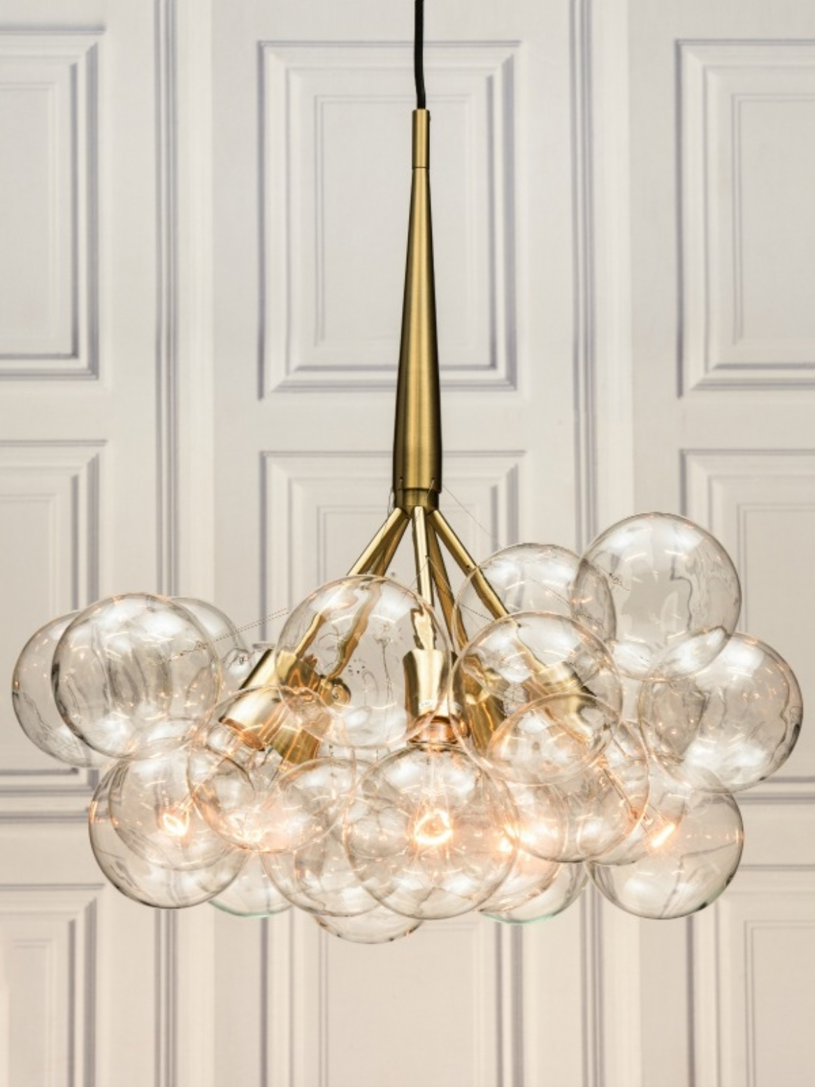 Chandeliers Design : Amazing Large Glass Globe Chandelier Retro With Current Large Glass Chandelier (View 3 of 20)