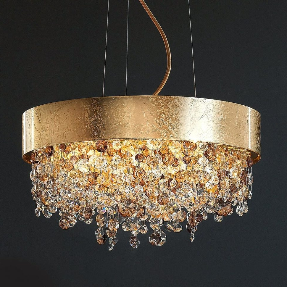 Chandeliers Design : Awesome Gold Crystal Chandelier Uk Modern Regarding Most Popular Large Cream Chandelier (View 3 of 20)