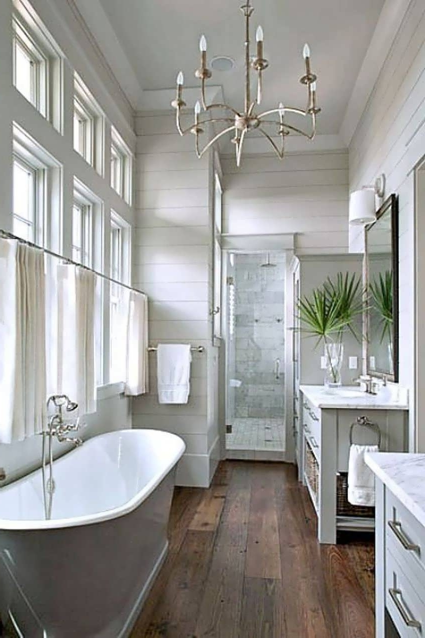 Chandeliers Design : Awesome Master Bathroom Chandelier Lighting In Popular Bathroom Safe Chandeliers (View 11 of 20)