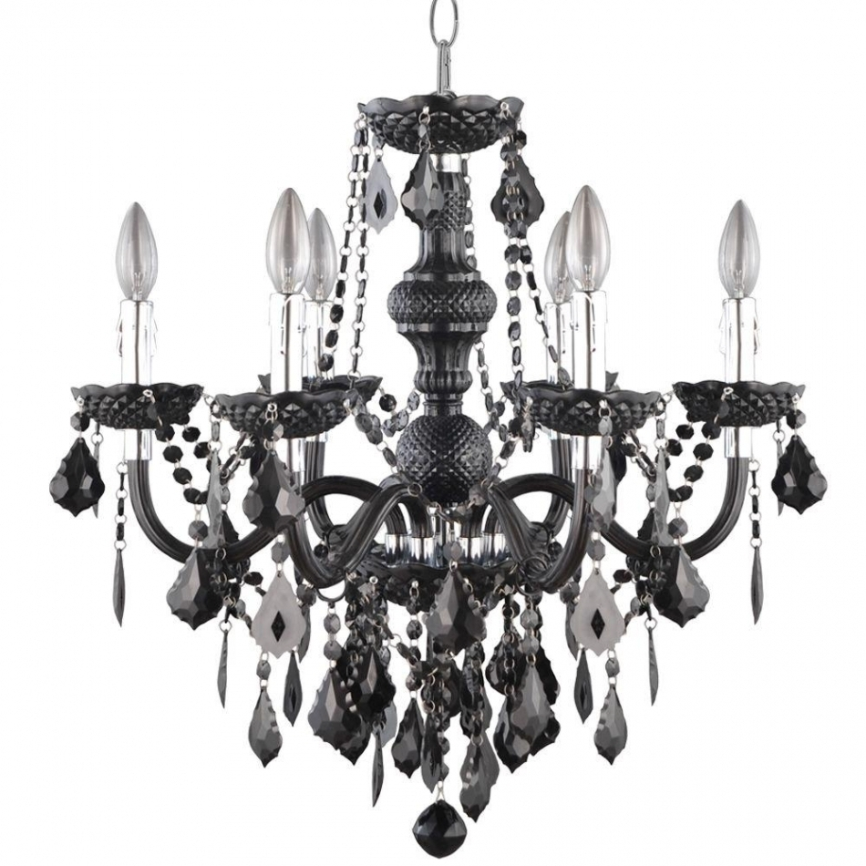 Chandeliers Design : Awesome Wrought Iron Candle Chandelier Non Throughout Recent Hanging Candelabra Chandeliers (View 6 of 20)