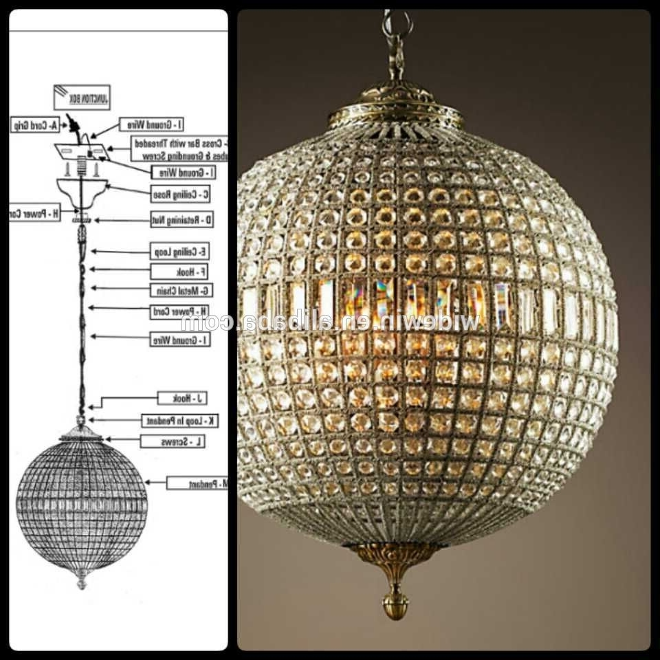 Chandeliers Design : Fabulous Crystal Globe Chandelier Luxury Ball In Latest Crystal Globe Chandelier (View 8 of 20)