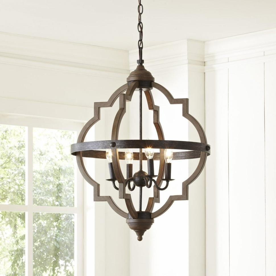 Chandeliers Design : Fabulous Farmhouse Chandelier Lighting With Most Recently Released Modern Wrought Iron Chandeliers (View 17 of 20)