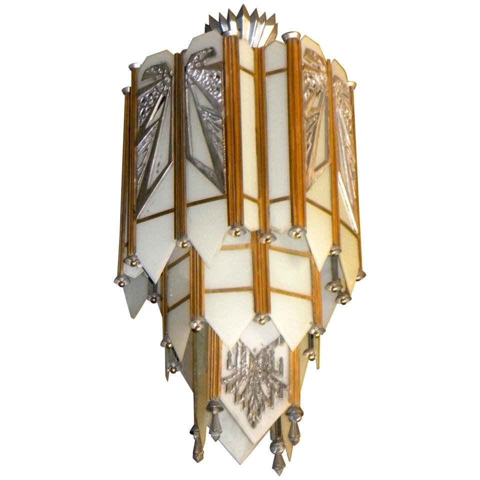Chandeliers Design : Magnificent Art Deco Chandelier Spectacular Zig For Recent Large Art Deco Chandelier (View 6 of 20)