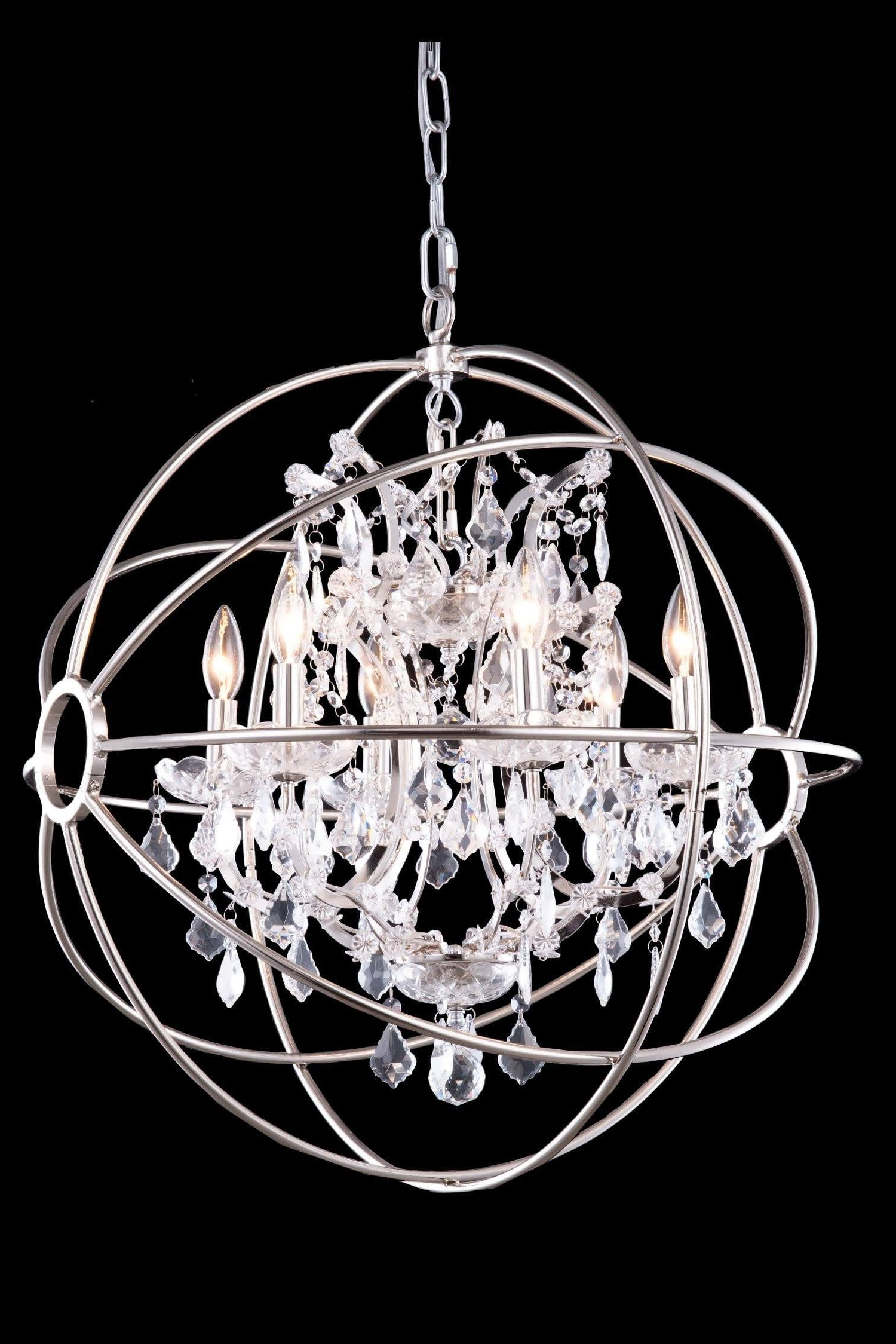 Chandeliers Design : Magnificent Beautiful Metal Ball Candle Within Well Liked Metal Ball Candle Chandeliers (View 3 of 20)