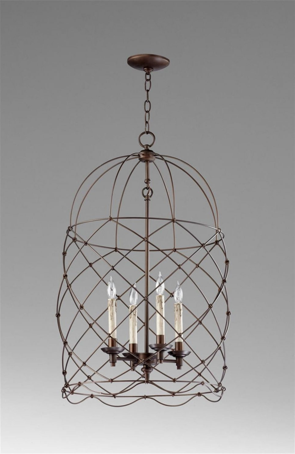 Chandeliers Design : Magnificent Cage Chandelier Lighting Currey Inside 2019 Cage Chandeliers (View 11 of 20)